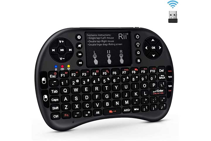 Rii 2.4GHz Mini Wireless Keyboard with Touchpad