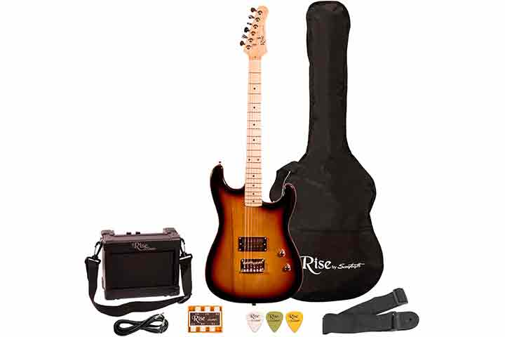 Rise By Sawtooth Right Handed ¾ Size Beginner Electric Guitar Kit