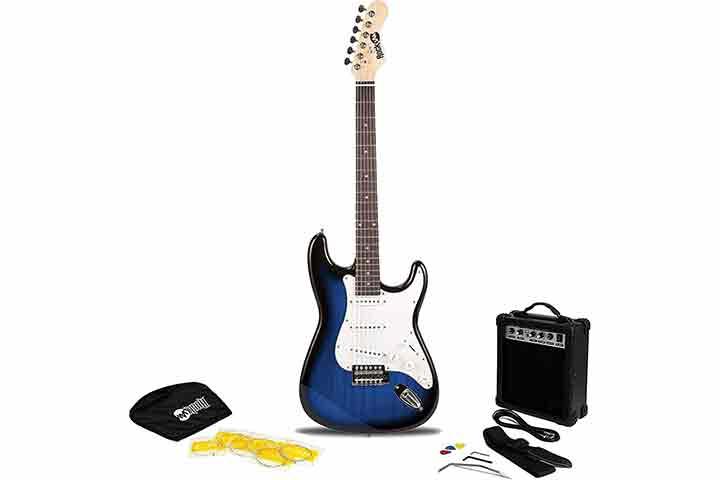 RockJam 6 String Electric Guitar Pack RJEG02-SK-BB