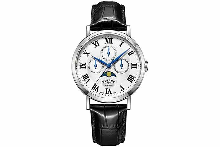Rotary Men's Windsor Moon Phase Watch