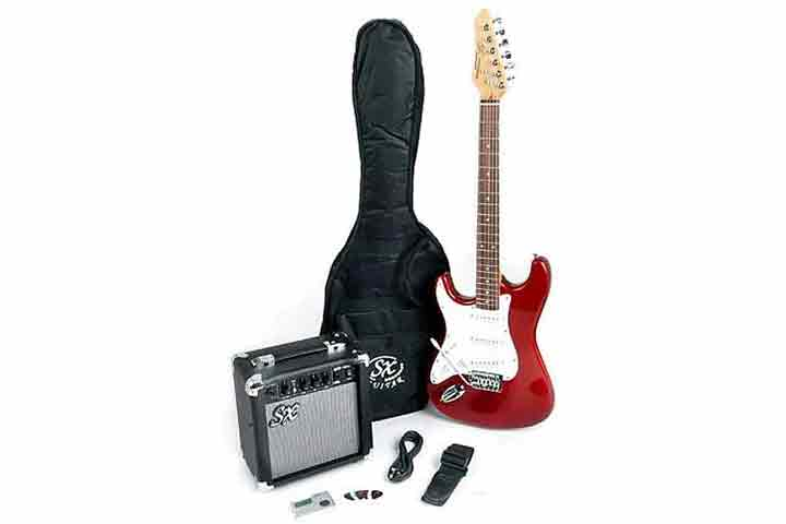 SX Left Handed ¾ Size Beginner Electric Guitar Package