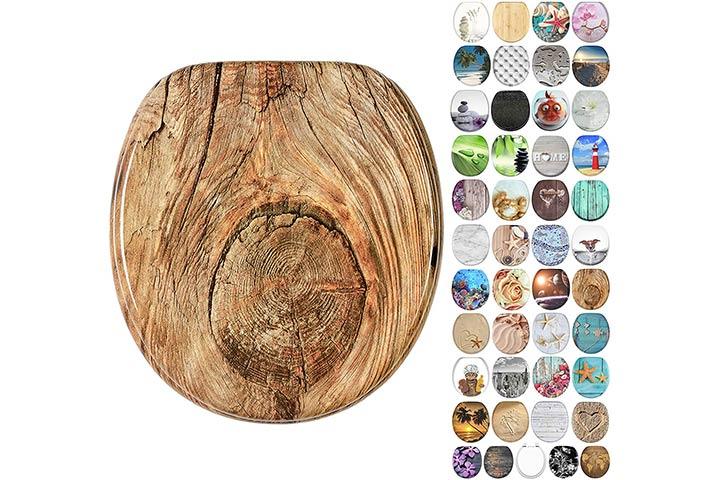 Sanilo Molded Wood Round Toilet Seat