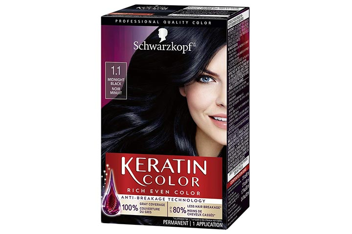 Schwarzkopf Keratin Color Permanent Black