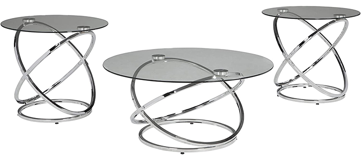 Signature Design By Ashley Contemporary 3-Piece Table Set
