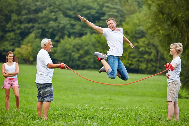 Skip rope contest