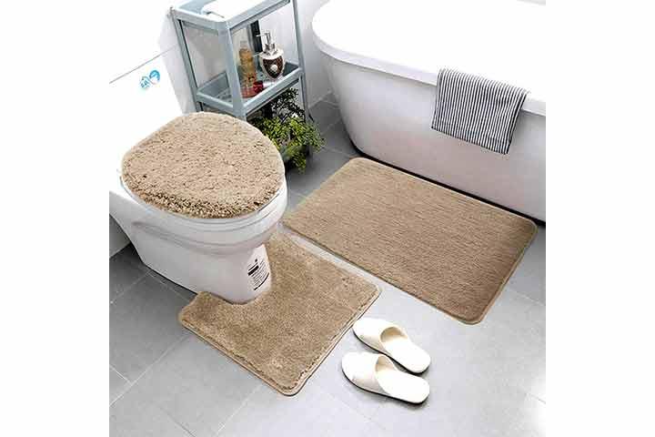 Smart Linen 3 Piece Bathroom Rug Set