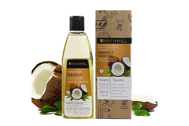 Soulflower Extra Virgin Coconut Carrier Oil