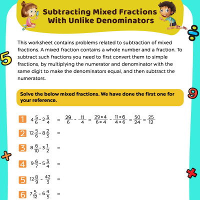 Fifth Grade Math Worksheets For Kids - Free & Printable MomJunction