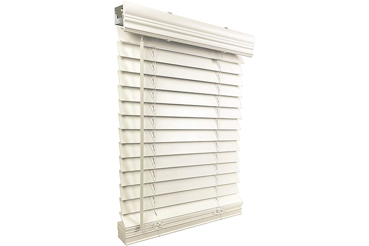 US Window And Floor Store Cordless Faux Wood Blinds