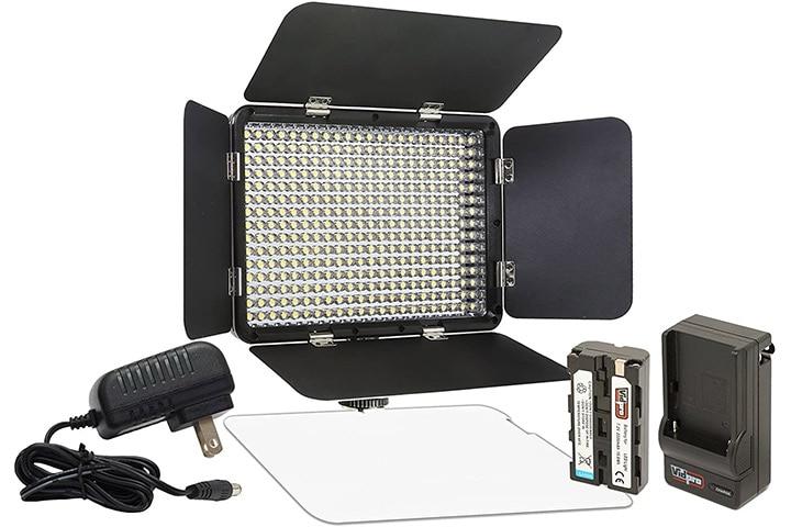 VidPro LED-330X On-Camera LED Video Light Kit