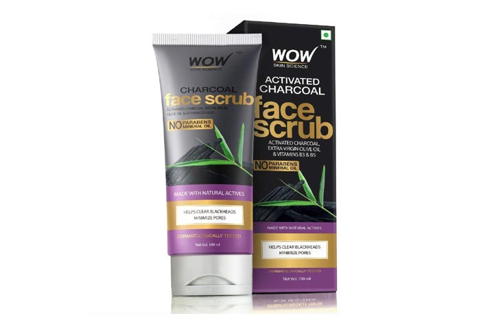 Wow Activated Charcoal Face Scrub