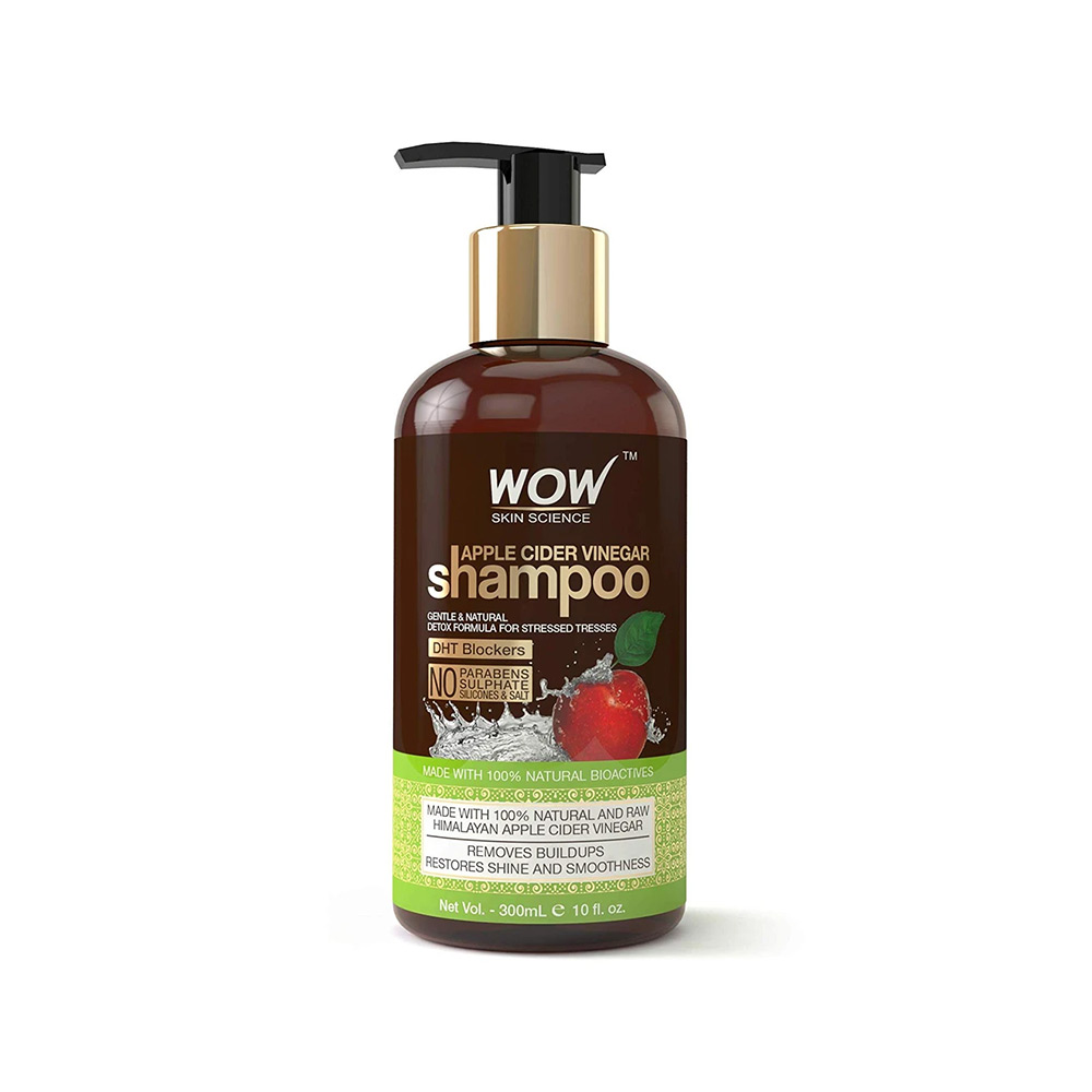 WOW Skin Science Apple Cider Vinegar Shampoo - No Parabens & Sulphate - 300 ml