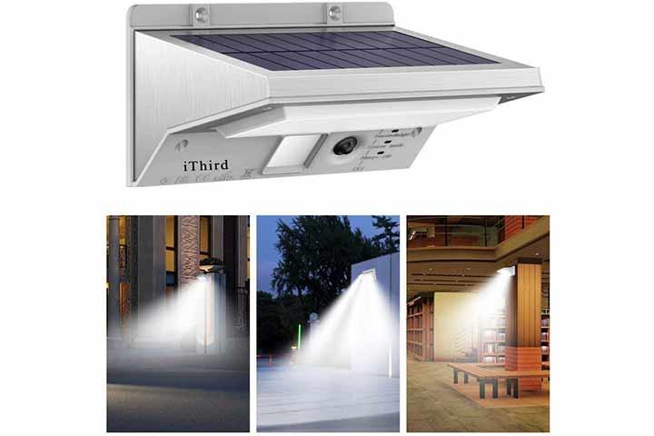 iThird 3 Modes Adjustable Solar Motion Sensor Lights