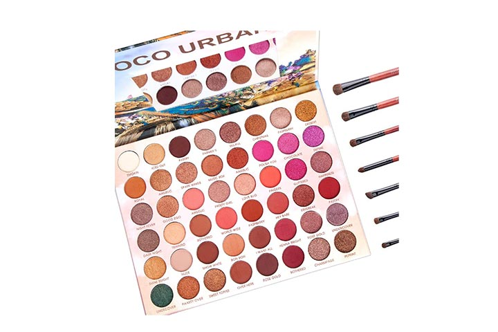 AmoVee 48 Colors Eyeshadow Palette And Makeup Brushes Set