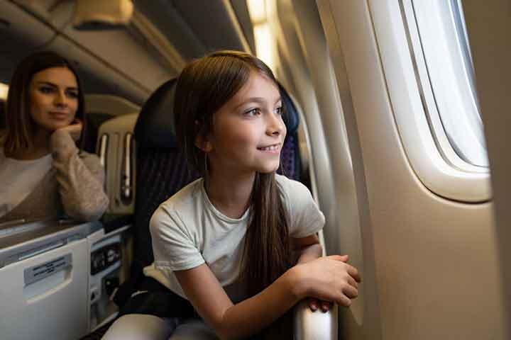 An airplane ride