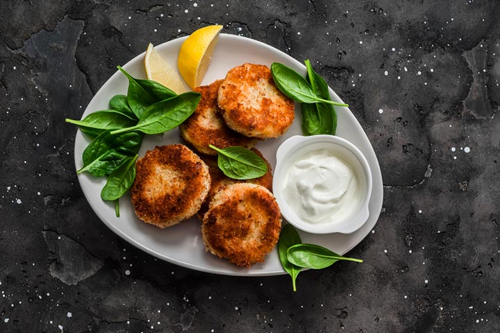 Baked tuna and spinach patties