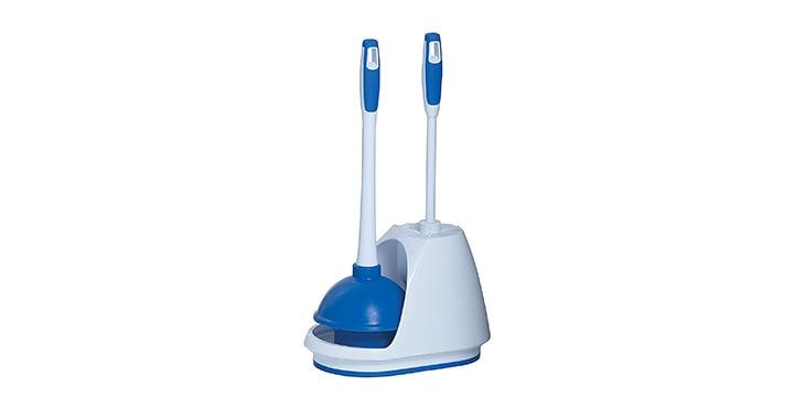 Clean WhiteBlue Plunger