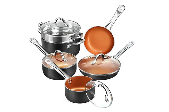 Cusinaid Aluminum Cookware Set