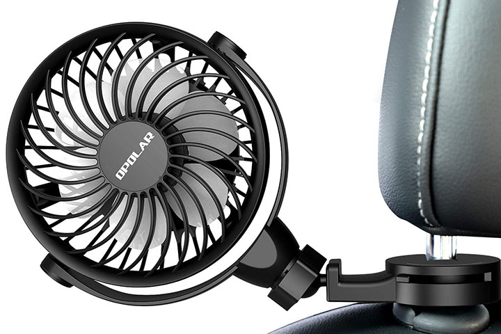 Forty4 USB Car Fan With Clips