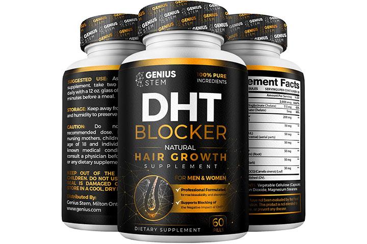 Genius Stem Premium DHT Blocker Hair Loss Supplement