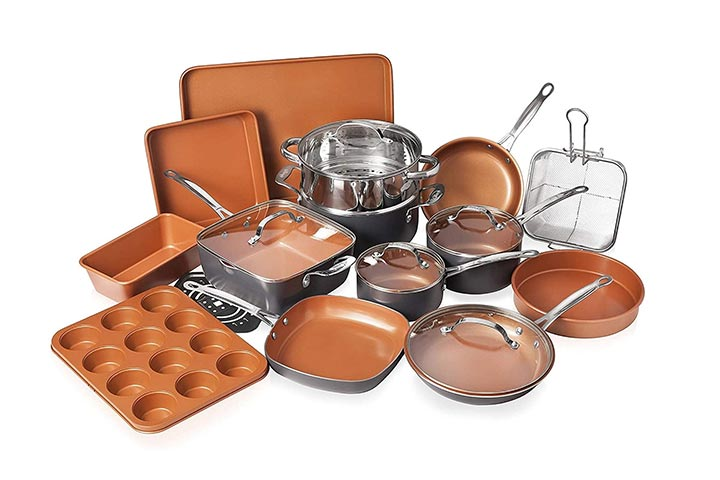 Gotham Steel Cookware And Bakeware Set