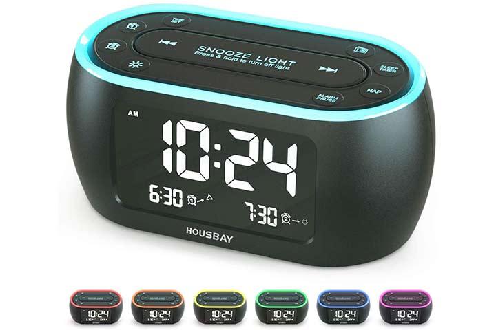 Housbay Glow Alarm Clock Radio