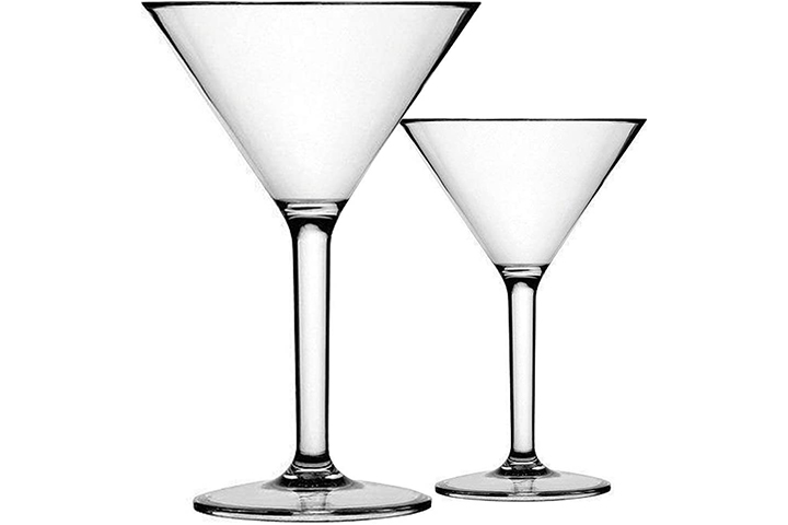 K Basix Unbreakable Martini Glasses