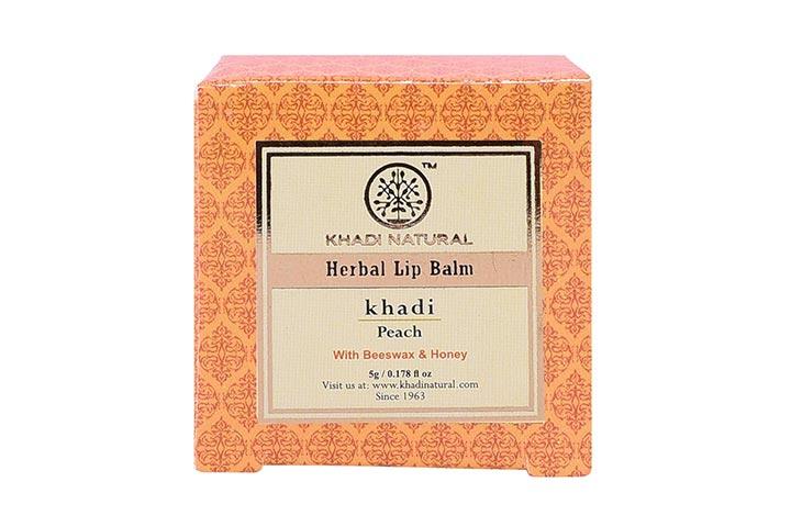 Khadi Natural Peach Herbal Lip Balm