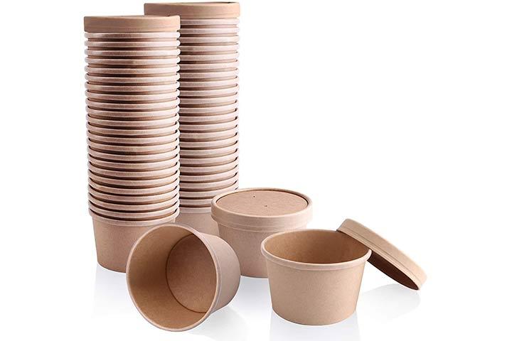 Kraft Compostable Paper Food Cup