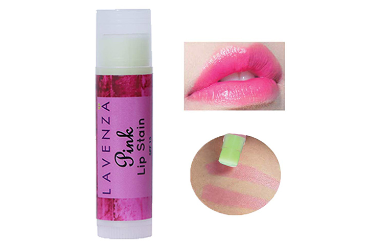Lavenza Natural Long Lasting Pink Lip Stain And Lip Balm