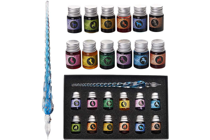 Mancola Glass Dip Pen Ink Set