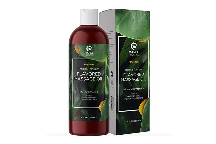 Maple Holistics Flavored Massage Oil - Tropical