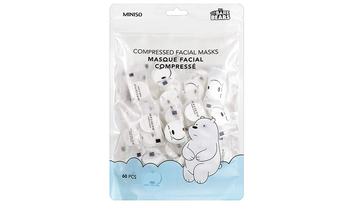 Miniso We Bare Bears Compressed Facial Masks