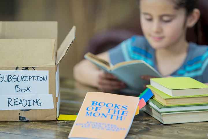 Monthly book subscription boxes