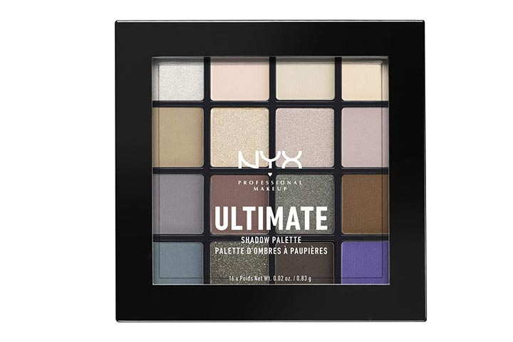Nyx Professional Makeup Ultimate Shadow Palette With Cool Neutrals
