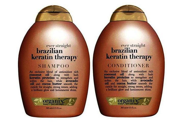 OGX Ever Straightening Brazilian Keratin Therapy Shampoo & Conditioner Combo