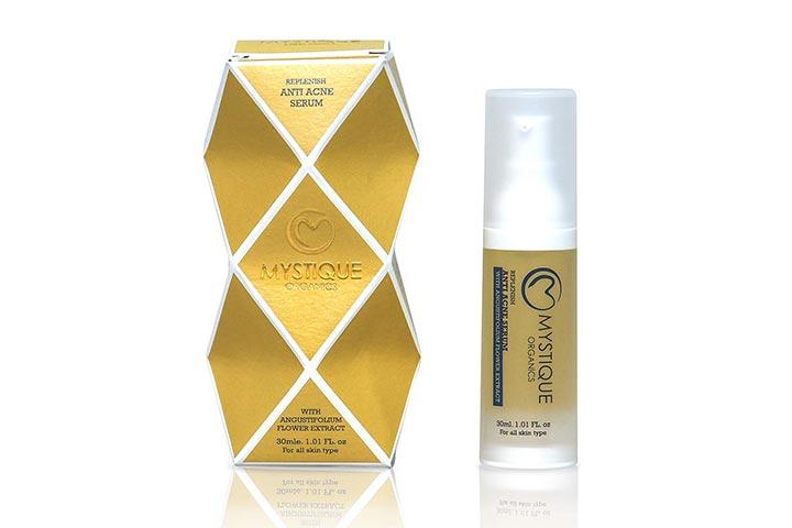 Organic and Paraben-Free Replenish Anti-Acne Face Serum from Mystique Organics