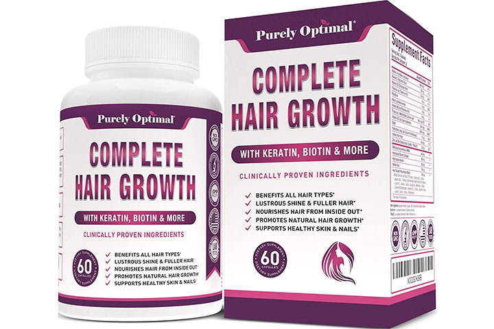 Purely Optimal Premium Hair Growth Vitamins