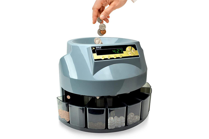 Pyle Automatic Coin Sorter Counter