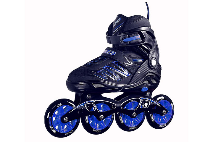 Quantico Inline Skates With PU Flashing Wheel
