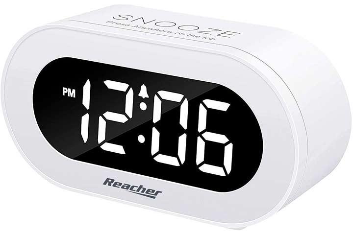 Reacher Small LED Digital Alarm Clock
