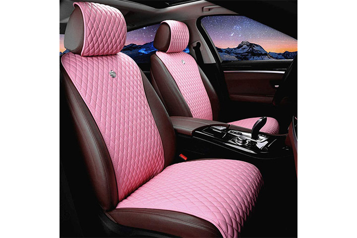Red Rain Leather Car Seat Covers