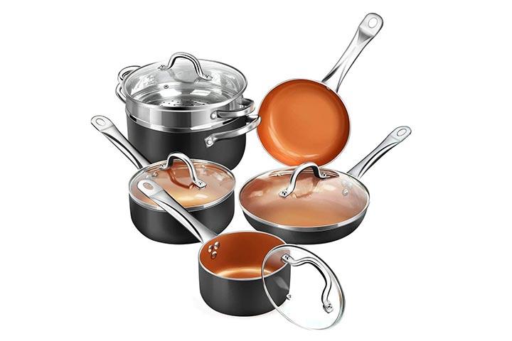 Shineuri Nonstick Ceramic Cookware Set