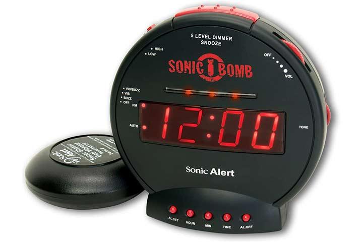 Sonic Alert Sonic Bomb Dual Alarm Clock