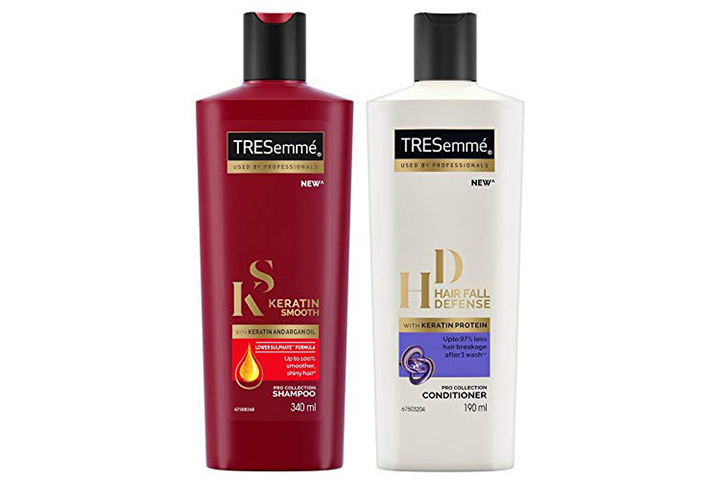 TRESemme Keratin Smooth Shampoo And TRESemme Hair Fall Defense Conditioner