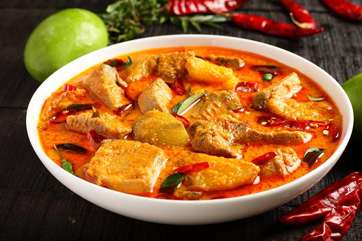 Tangy Indian fish curry