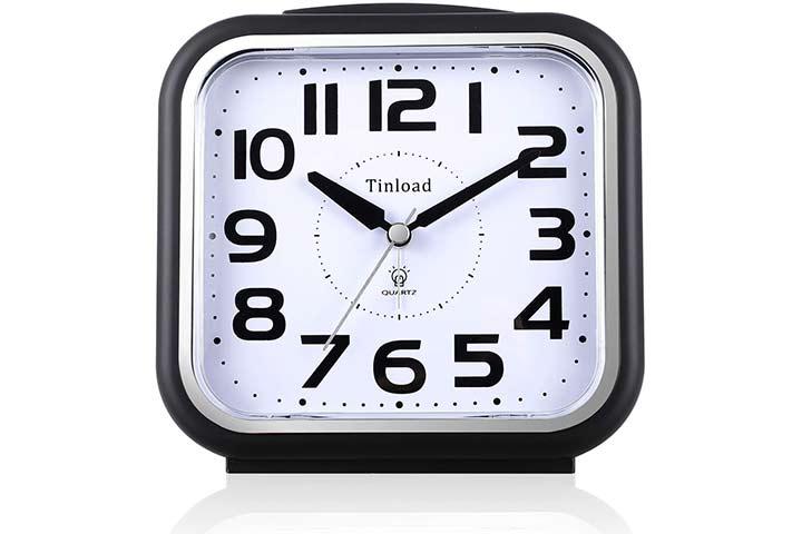 Tinload Silent Analog Alarm Clock