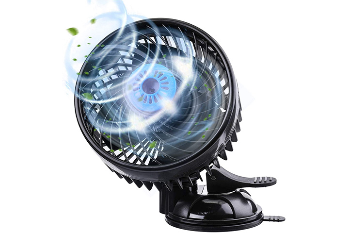 Tvird 6in Electric Car Fan With Adjustable Speed