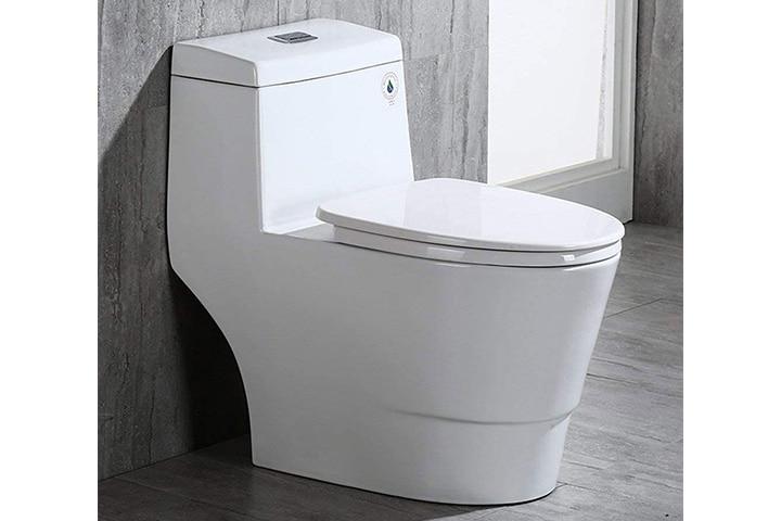WOODBRIDGE Dual-Flush Elongated One-Piece Toilet