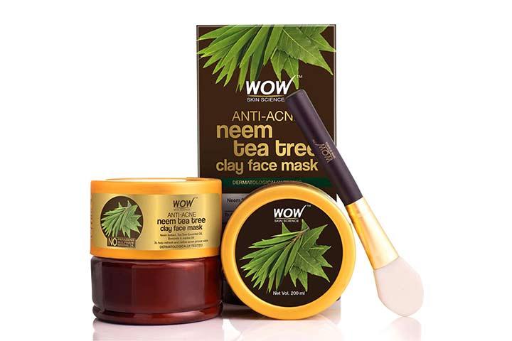 Wow Anti-Acne Neem Tea Tree Clay Face Mask